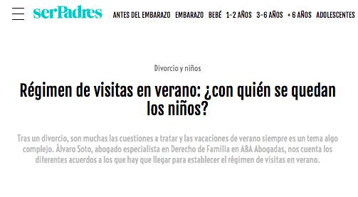 Régimen de visitas en verano: ¿con quién se quedan los niños? por Álvaro Soto
