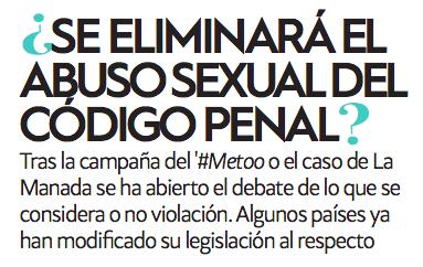 ¿Se eliminará el abuso sexual del Código Penal? por Lara Sánchez