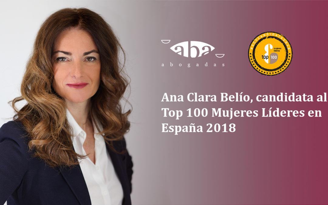 Ana Clara Belío, candidata al Top 100 Mujeres Líderes en España 2018