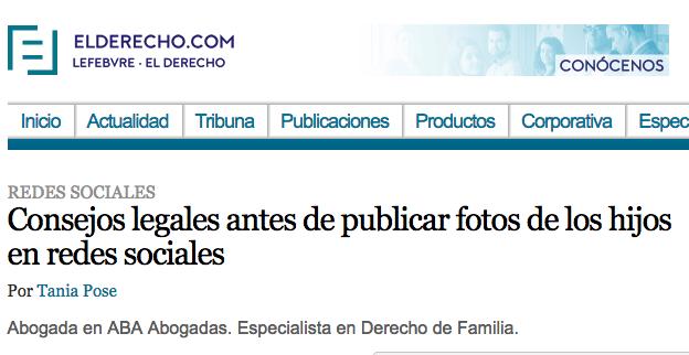 Consejos legales antes de publicar fotos de los hijos en redes sociales por Tania Pose