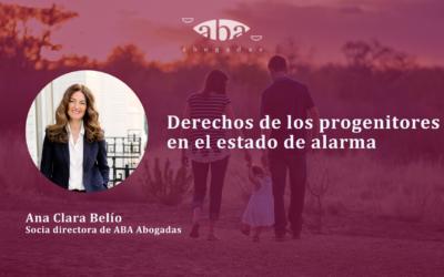 Derechos de los progenitores en el estado de alarma