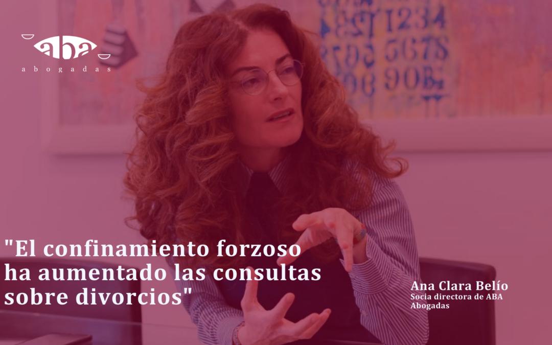 """Ana Clara Belío, en Cadena Ser: """"El confinamiento forzoso ha aumentado las consultas sobre divorcios"""""""